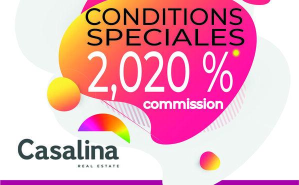 DES CONDITIONS SPECIALES DU 01/09/2020 au 31/12/2020 - 2,020 % HTVA(2,44 TVAC) COMMISSION SUR LA VENTE