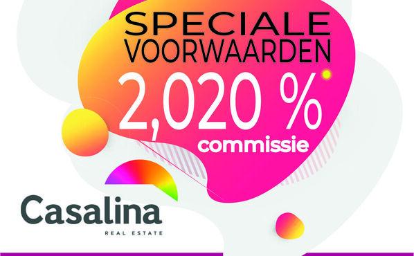 SPECIALE CONDITIES VAN 01/09/2020 tot 31/12/2020 - 2,020 % Excl. BTW(2,44 % Incl.) COMMISSIE OP VERKOOP